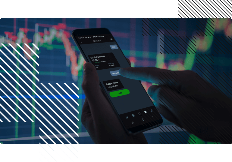 search for finance data via phone