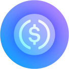 Logo of Circle USDC stablecoin