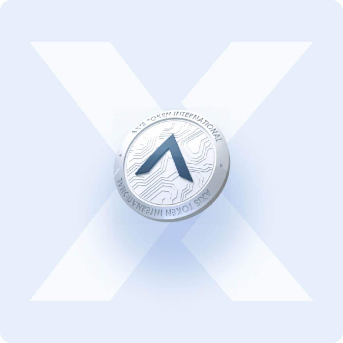 AXIS token of a PixelPlex logo background