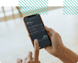 control via the phone with the app in hand