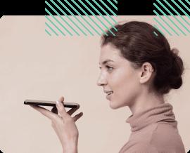 a woman runs a house using a phone