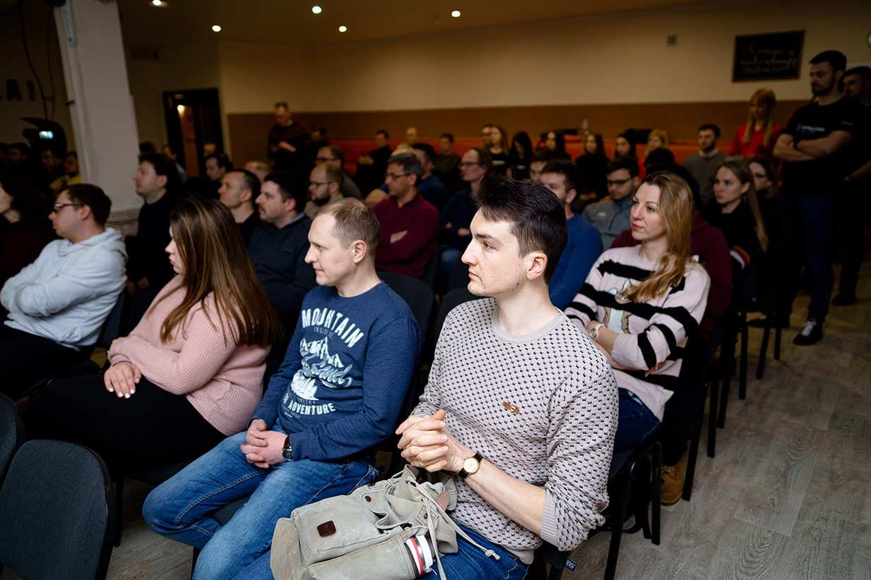 The audience of Belarus Hyperledger Meetup 2020