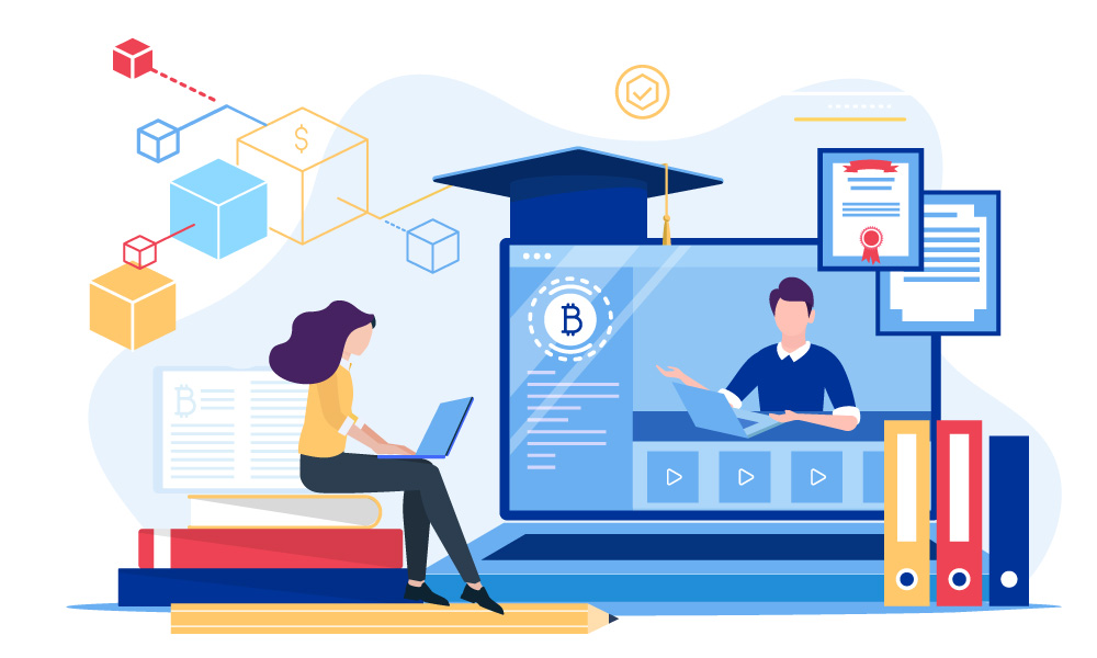 The distance education process in the frames of K-12 system supported by blockchain technology