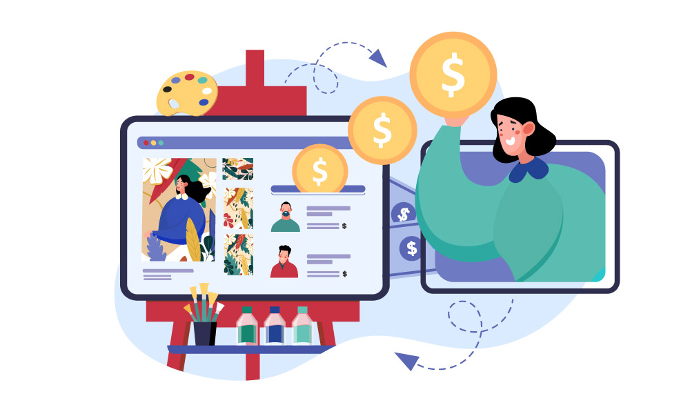 A person buying web design templates