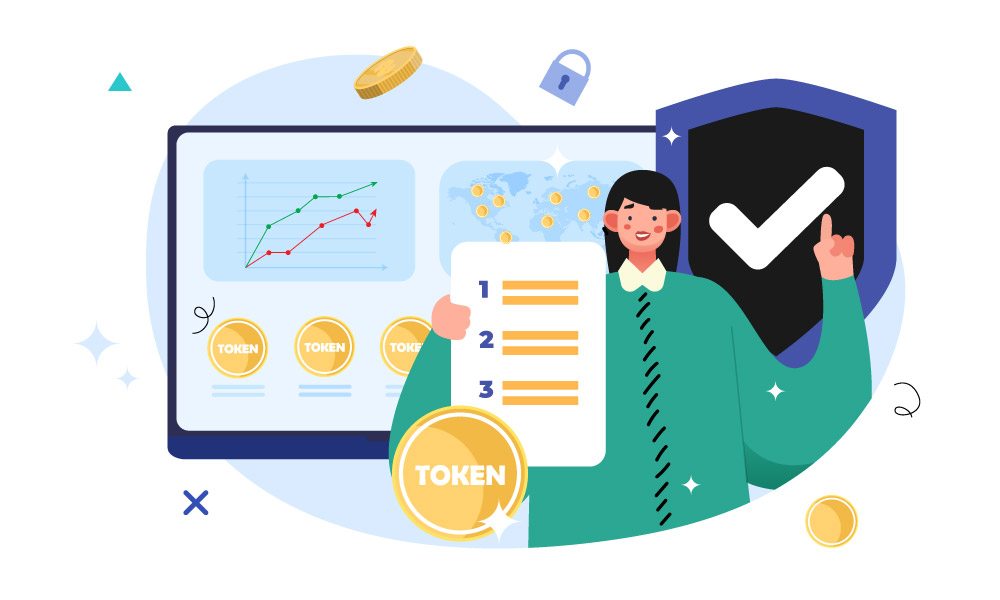 A person analyzing statistics and propose steps to tokenize an asset