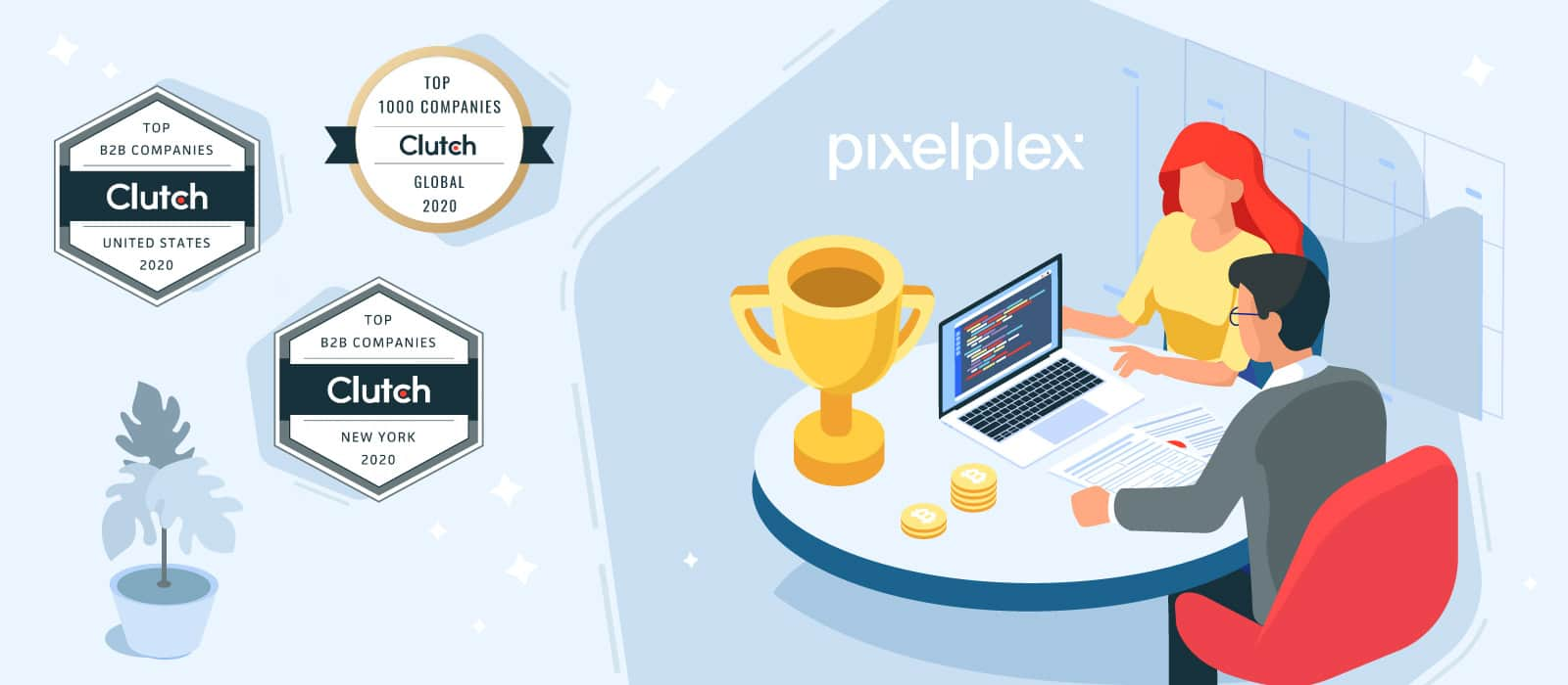 PixelPlex Awarded With Three Badges From Clutch!