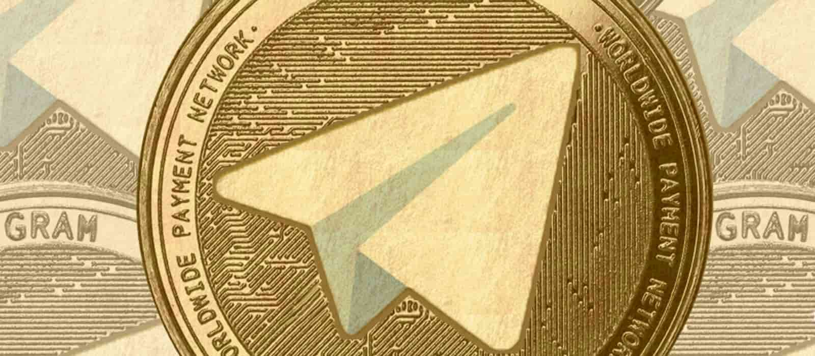 Telegram logo on a yellow coin