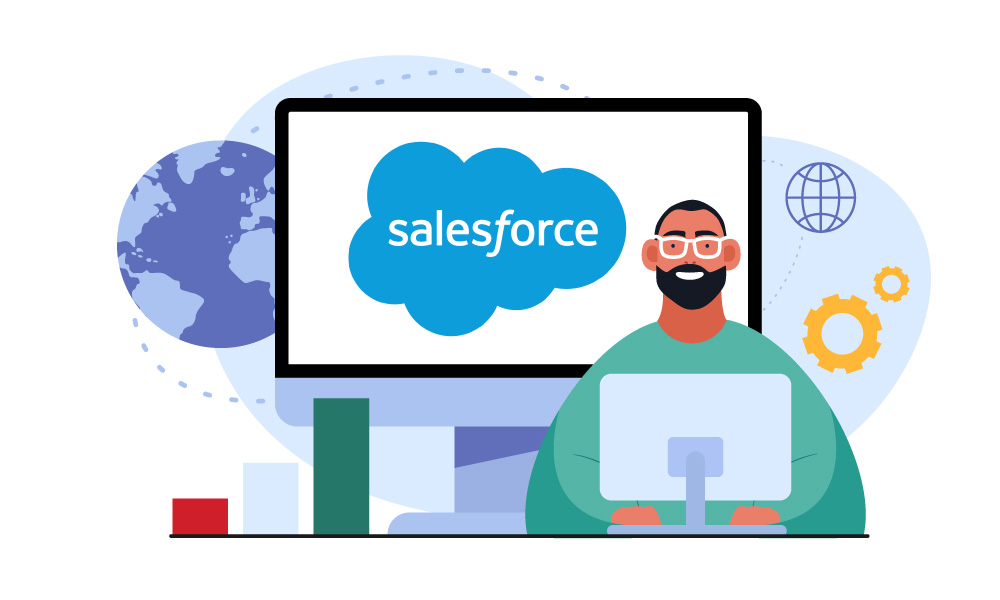 A person presenting Salesforce