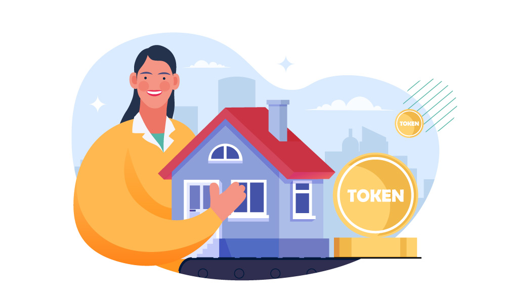 A person tokenizing a house