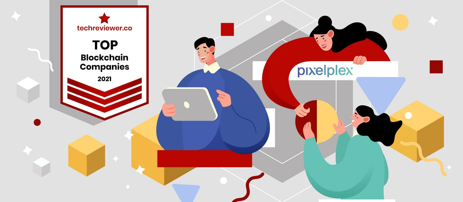 PixelPlex Is Recognized by Techreviewer as a Top Blockchain Development Company in 2021