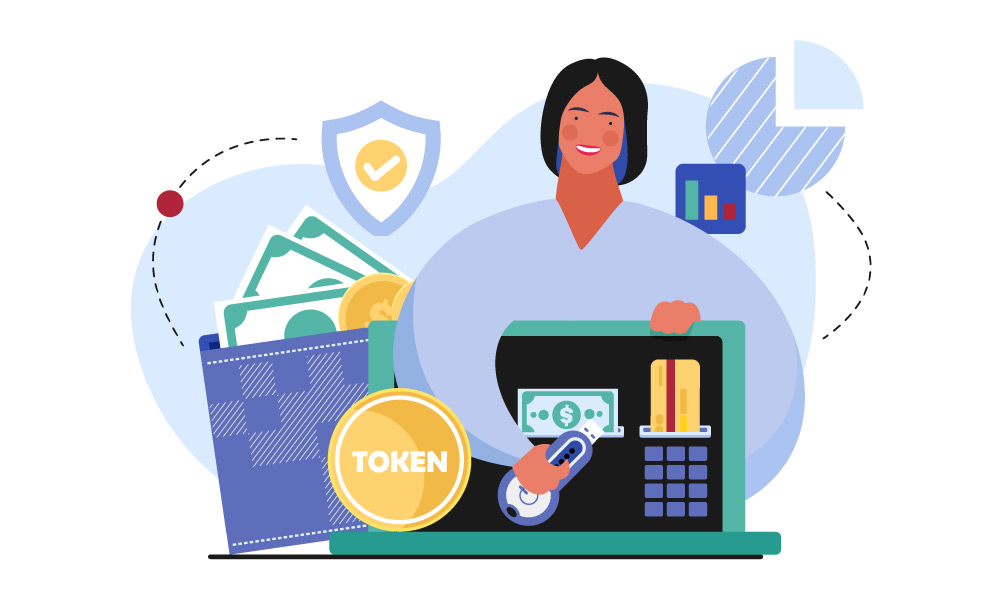 A person applying tokenization to gain benefits