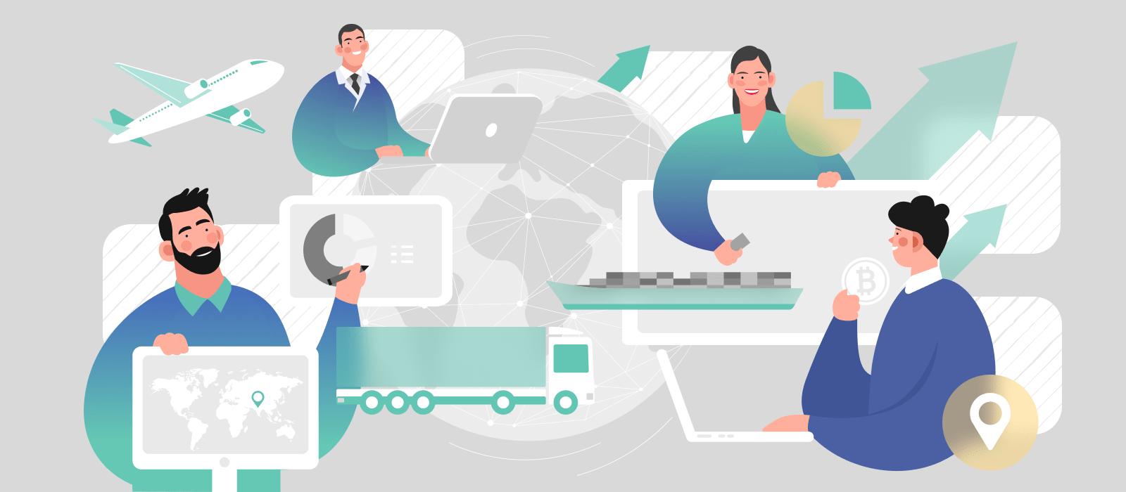 People optimizing supply chain management using blockchain technology