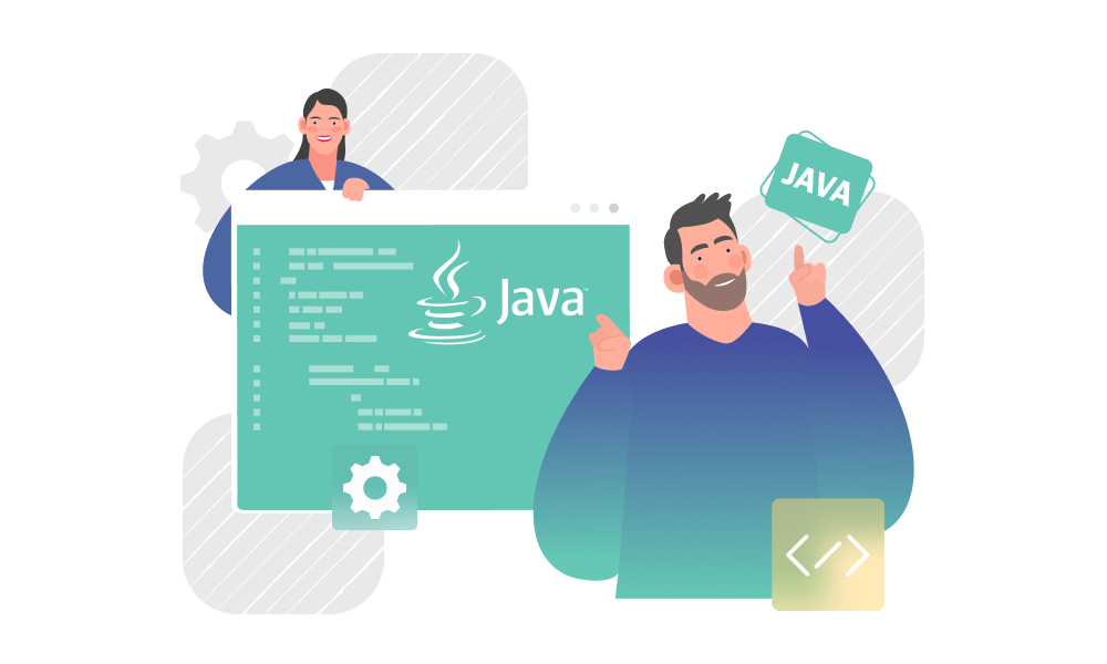 A person examining Java for AI development