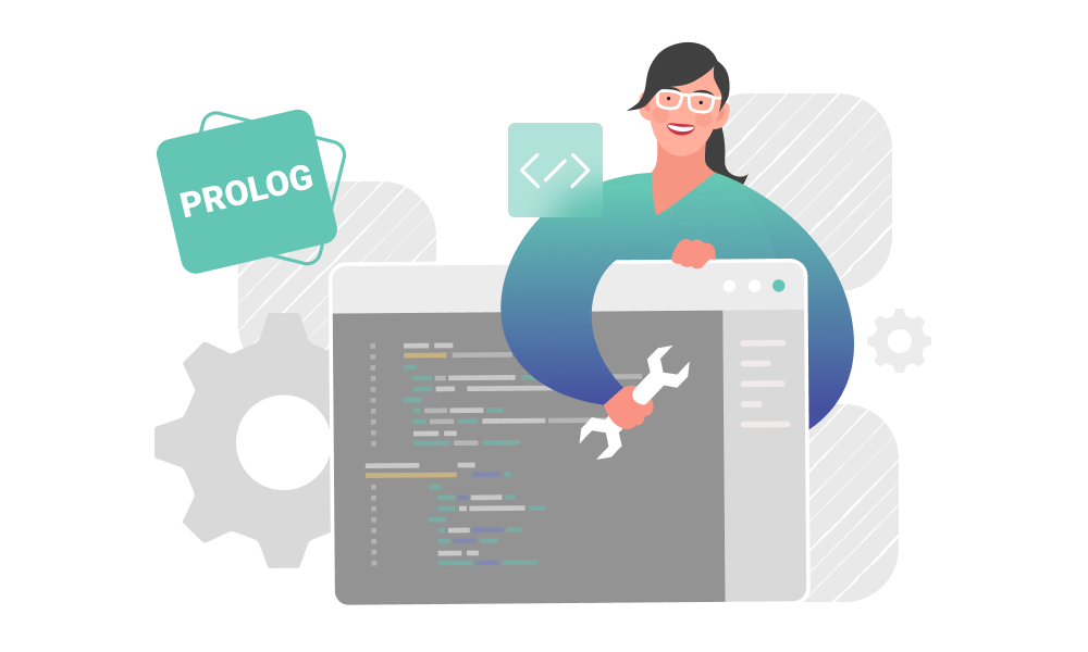 A person applying Prolog programming language