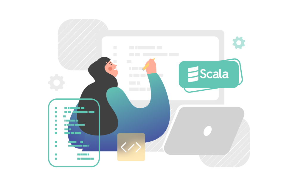 A person applying Scala in the development