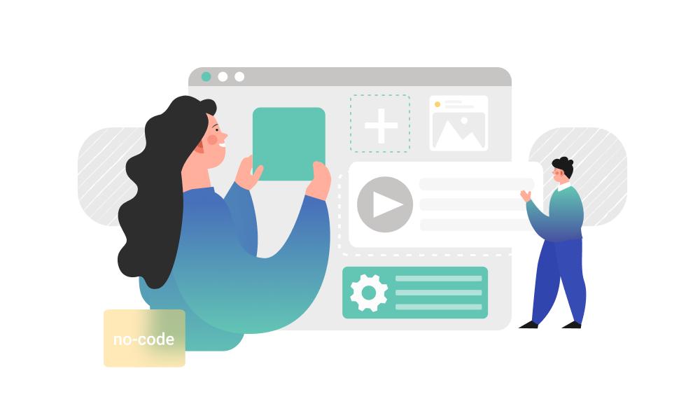 People building software using a no-code platform