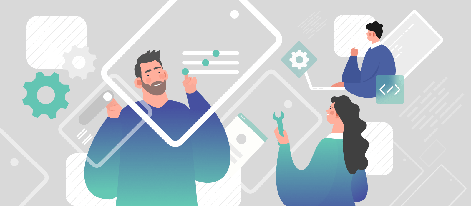 People building software with the help of website builders