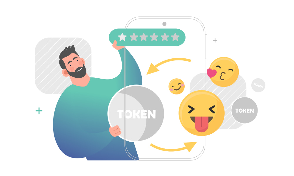 A person making NFT out of avatars and emojis