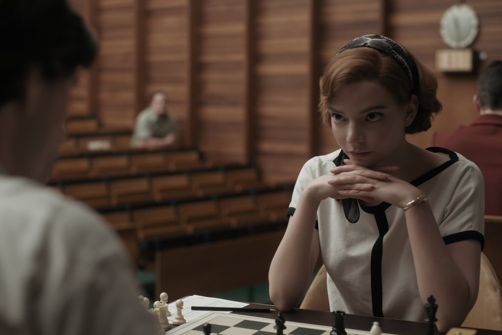 Anya Taylor-Joy playing chess in The Queen's Gambit