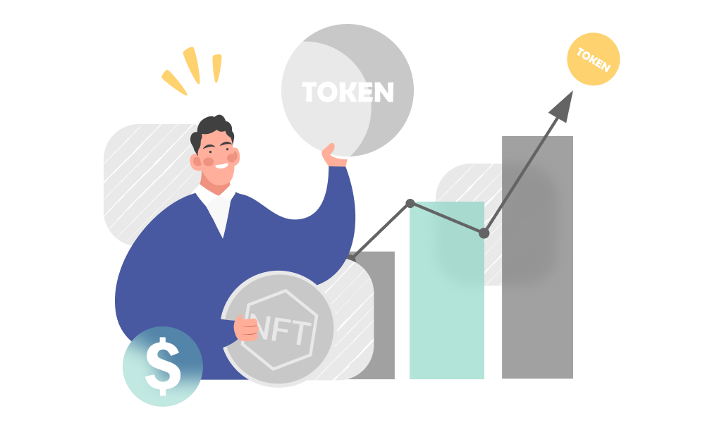 A person observing NFT and tokenization growth