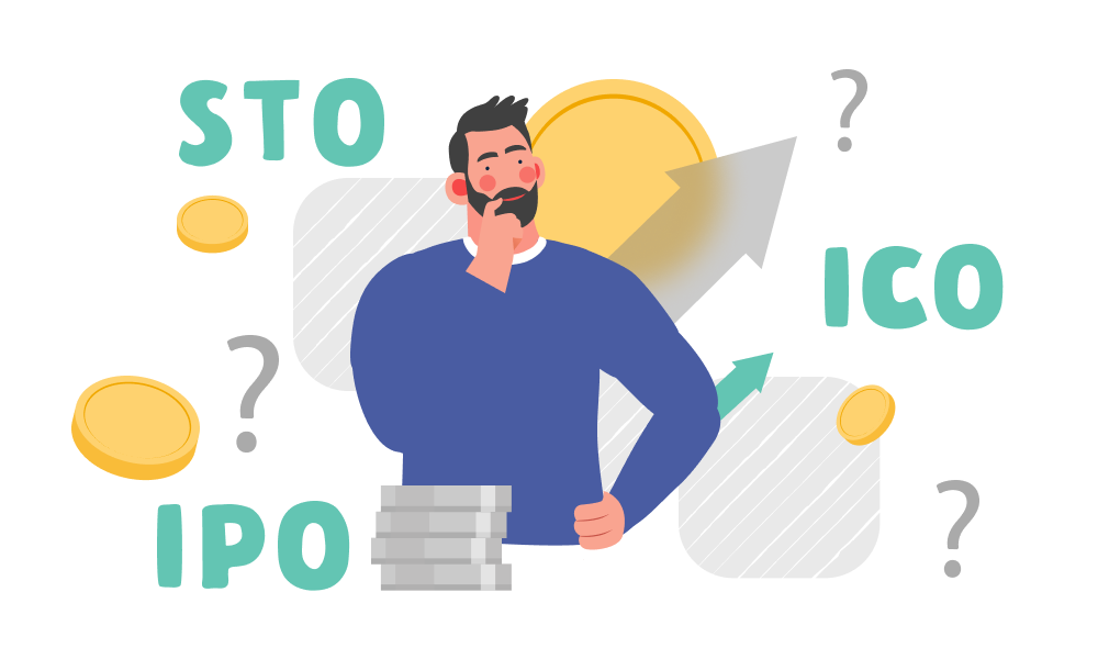 A person finding out the differences between STO, IPO, and ICO
