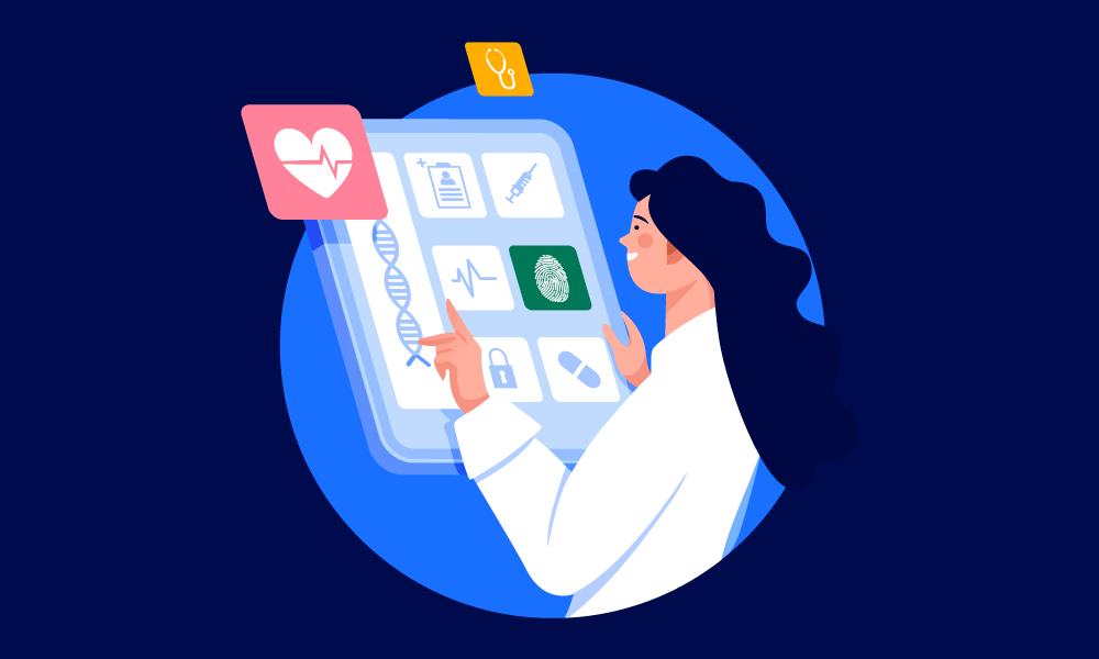 A healthcare worker discovering a digital identity profile