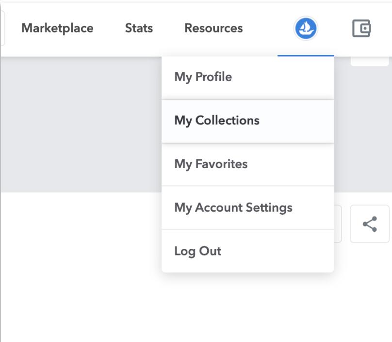 The UI of User profile tab on OpenSea website
