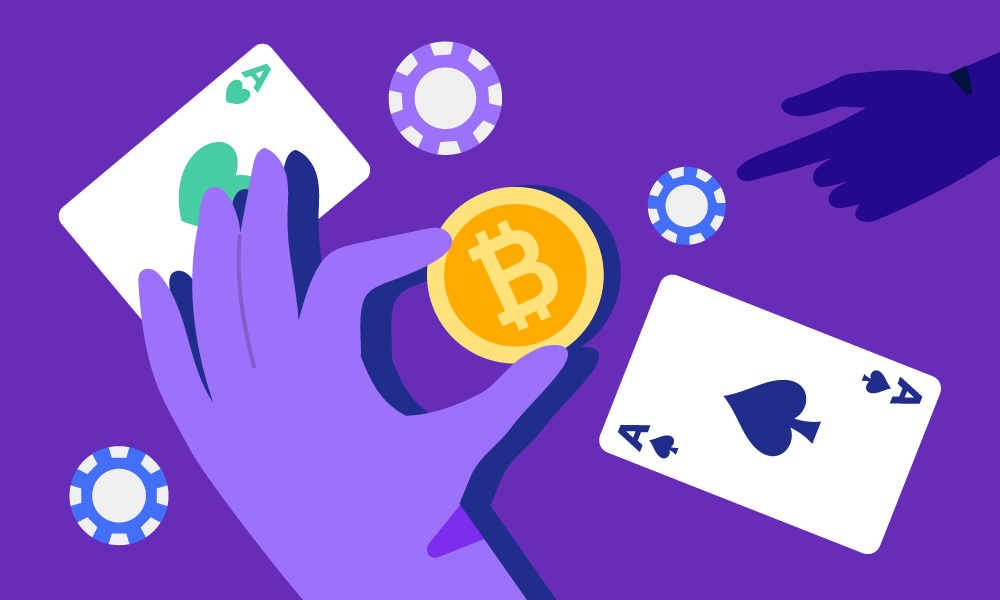 People use bitcoin for betting while playing card games
