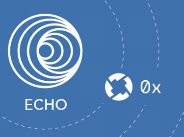 White Echo and 0x icons on a blue background
