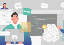 People examining the list of top programming languages for AI development