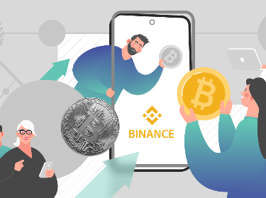 People buying crypto in Binance mobile app